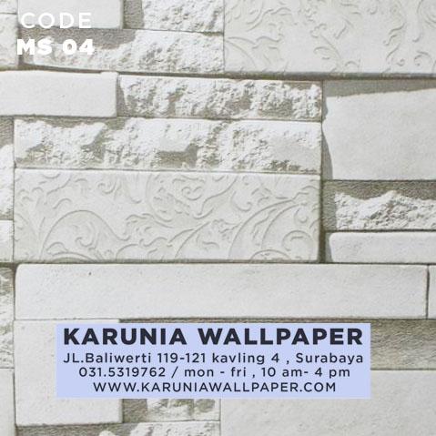 jual wallpaper batu bata putih