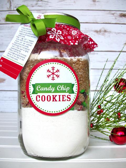 Christmas Cookie Mason Jar Gift