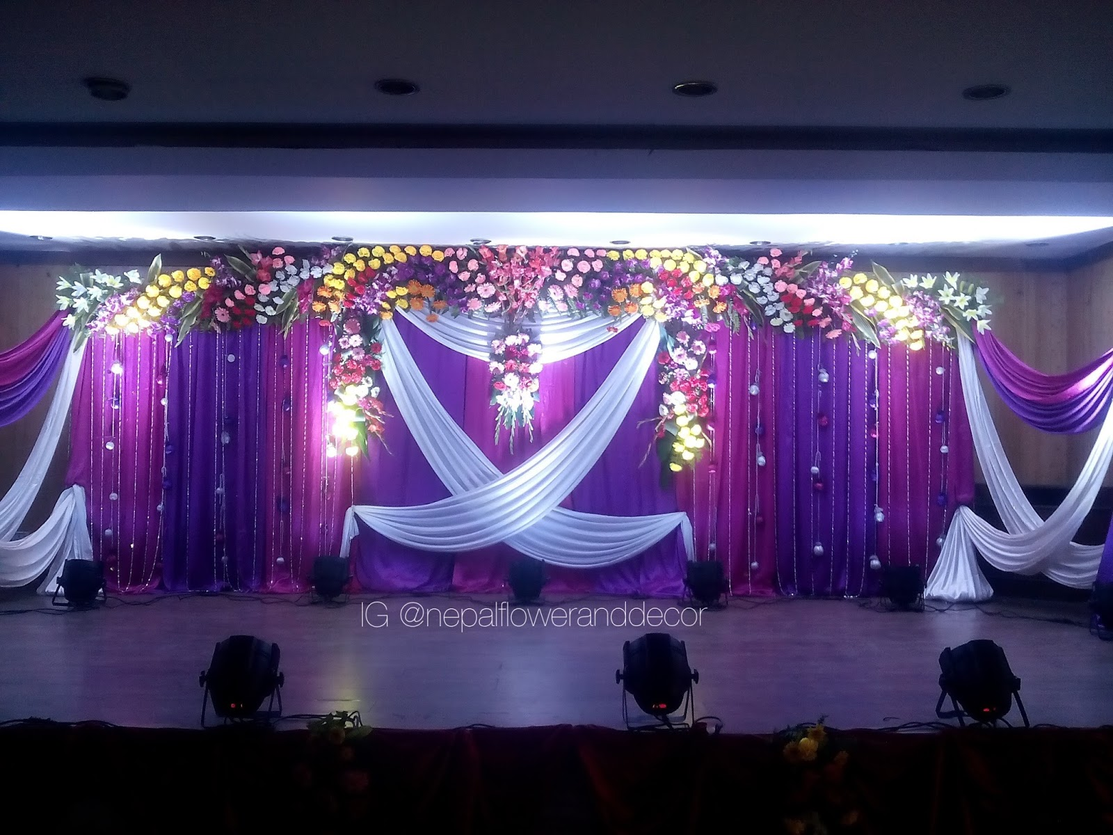 Nepal flower and decor wedding decoration stage decoration junglespirit Image collections