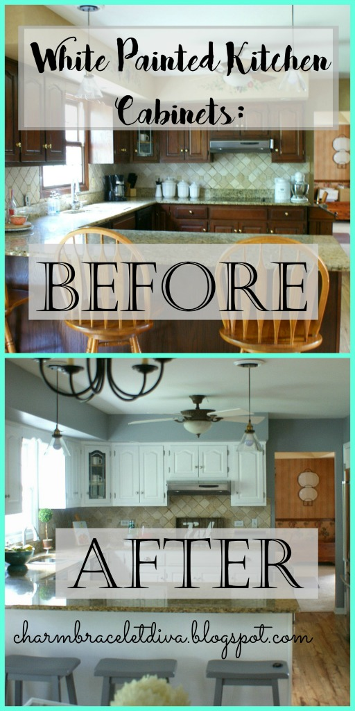 Farmhouse Kitchen Cabinets Diy Our Hopeful Home: DIY White Modern Farmhouse Painted Kitchen Cabinets