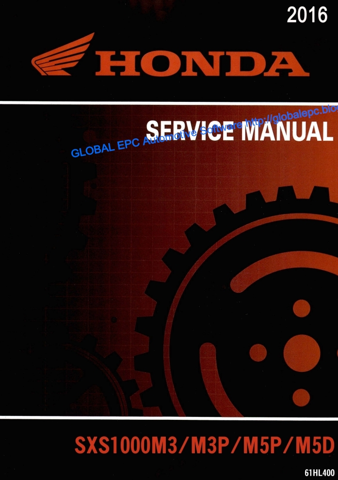 Automotive Repair Manuals  Utv Honda Pioneer 1000 Series  2016  Workshop Repair Manual And