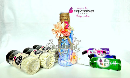 Altered Bottle for Expressions Craft