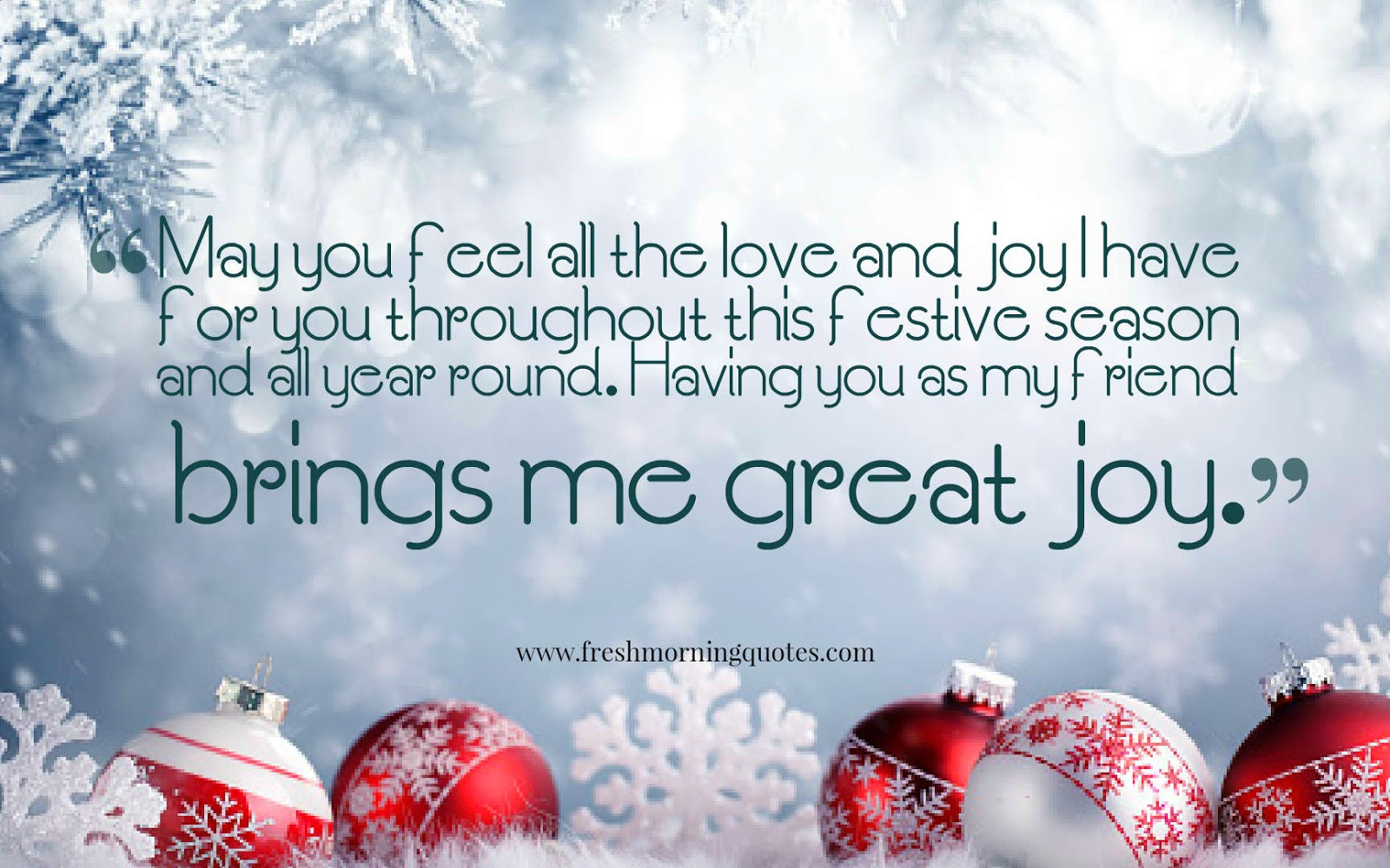 may you feel all the love and joy in this Christmas night