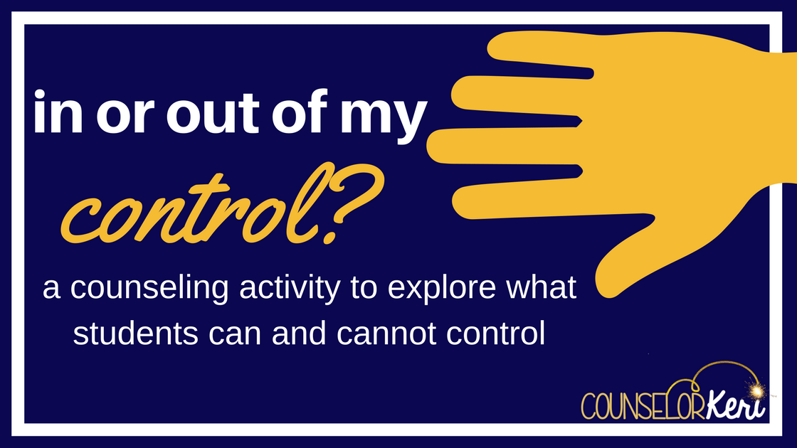 1cce40c69617 I wanted to share with you a quick little activity to use with students who  need a visual reminder to conceptualize the things they can and cannot  control.