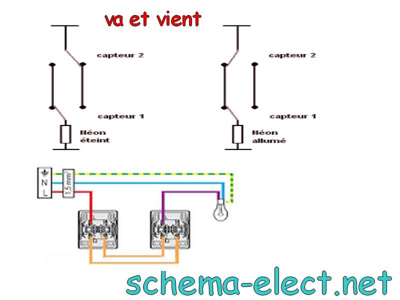 schema va et vient cours electronique et cours electricit