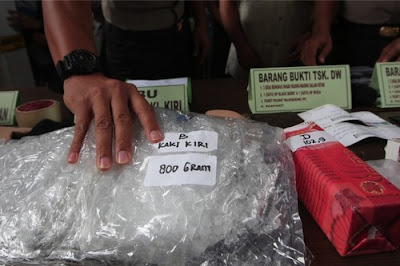 Indonesia meth bust (file photo)