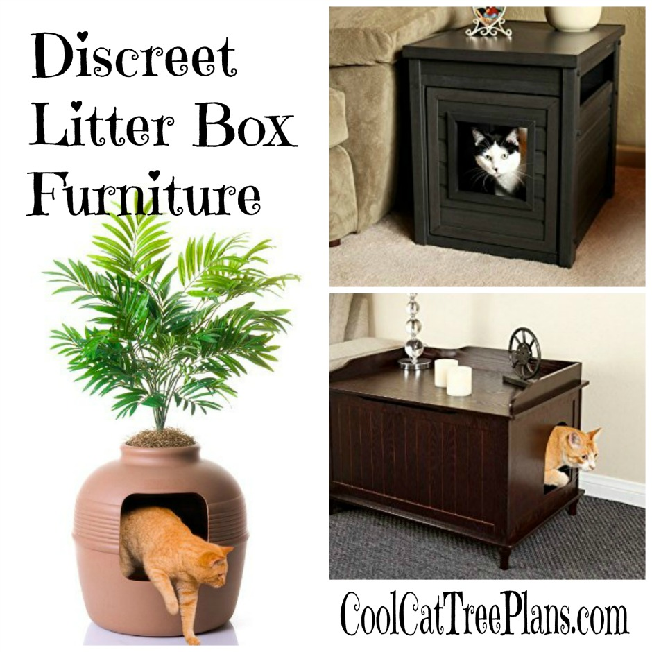 Discreet litter box furniture to keep you and your cats happy!