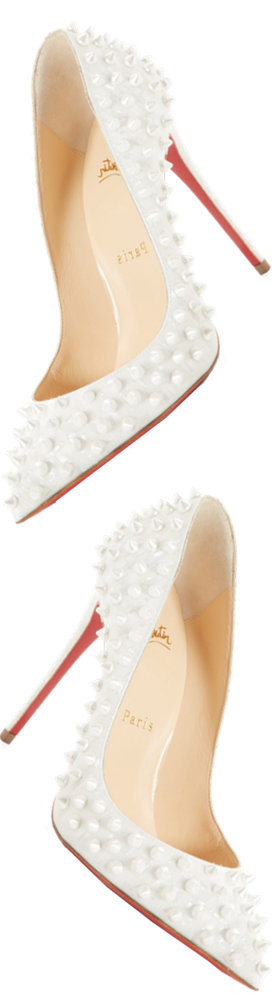 Christian Louboutin Follies Spikes Patent Leather Pumps