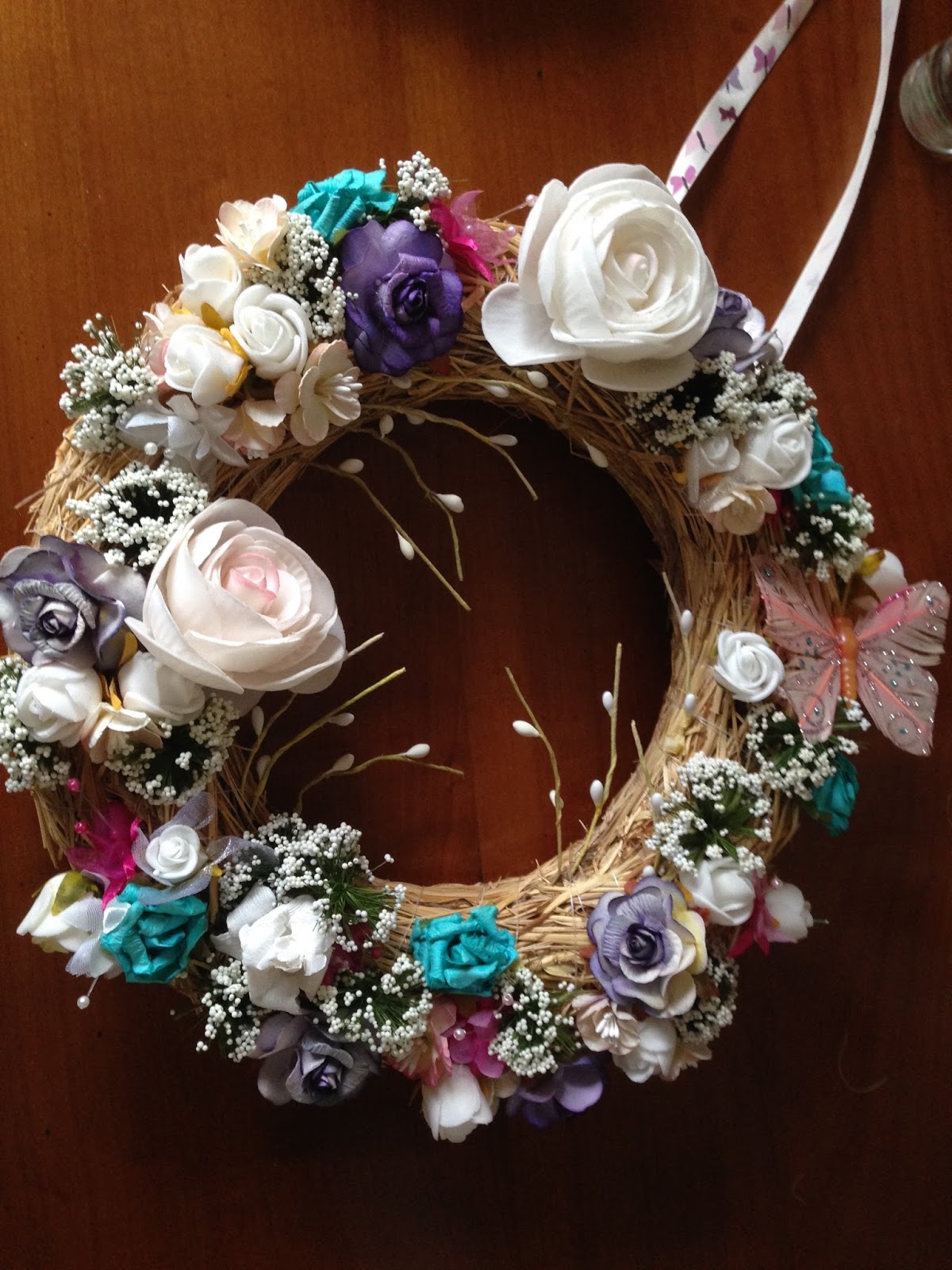 Id e diy d coration pour le printemps couronne de porte for Decoration porte bienvenue