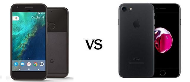 مقارنة شاملة بين الهاتفين ايفون 7 وجوجل بكسل