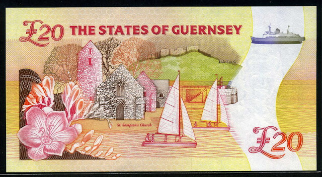 British banknotes Guernsey Pound money currency pictures