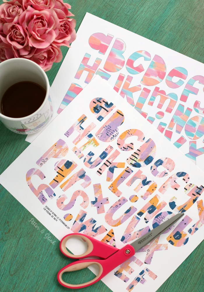Four Free Printable Wonky Alphabets