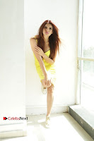 Actress Model Ihana Dhillon Poshoot Gallery in Yellow Lace Short Dress  0024.jpg