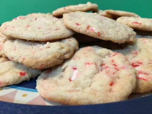 Sugar cookies with peppermint candy