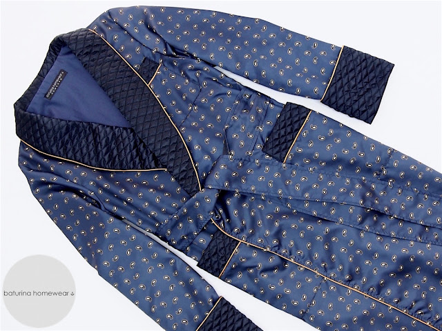 men's paisley silk dressing gown quilted luxury robe navy blue personalized bespoke big size full length