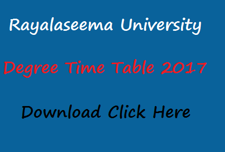 ru degree time table 2017 manabadi