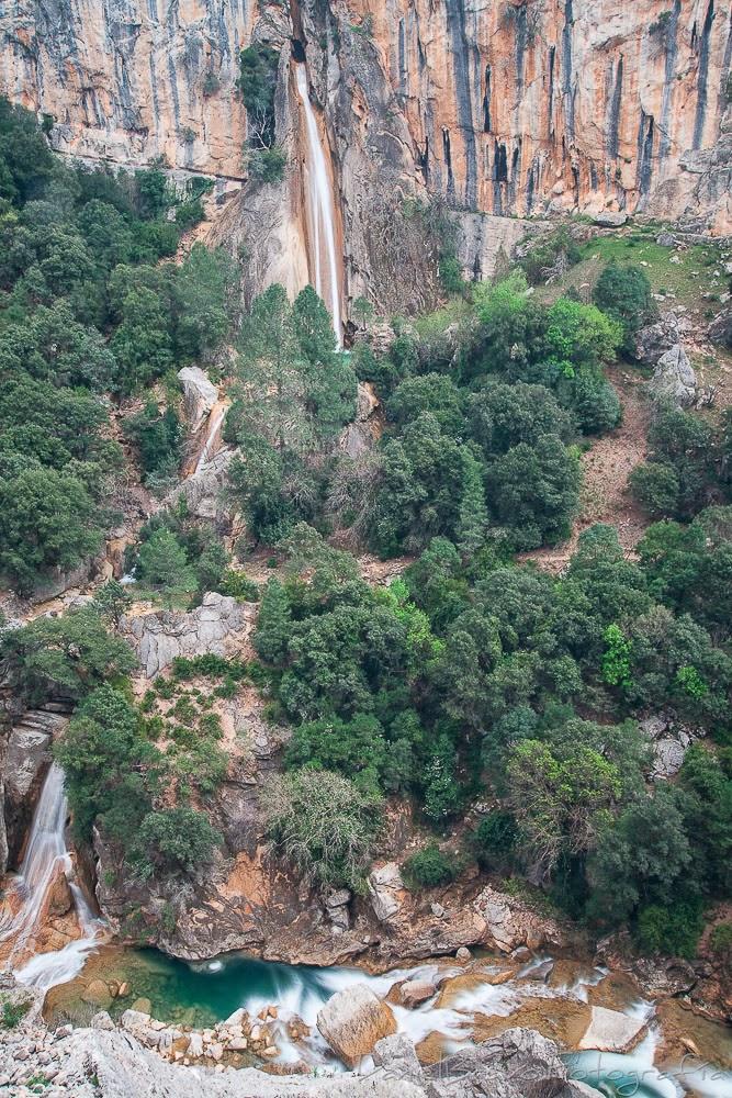 Cazorla, Sierra de Cazorla, rutas, senderos, Cerrada del Utrero, cascada de Linarejos, río Guadalquivir