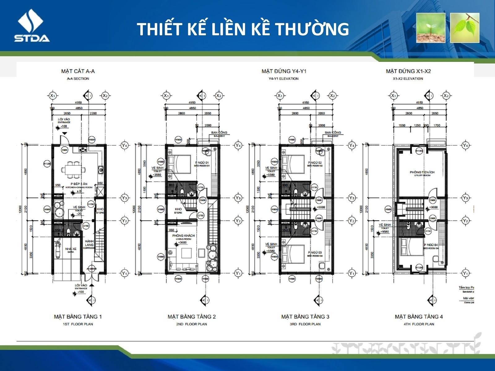 Thông tin mặt bằng liền kề, shophouse Cleve Văn Phú