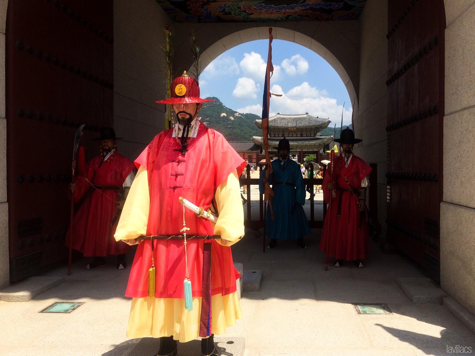 Seoul, Korea - Summer Study Abroad 2014 - Seoul City Touring - Gwanghwamun 광화문 光化門 Guards
