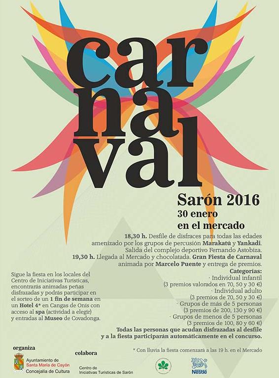 Carnaval 2016 en Sarón