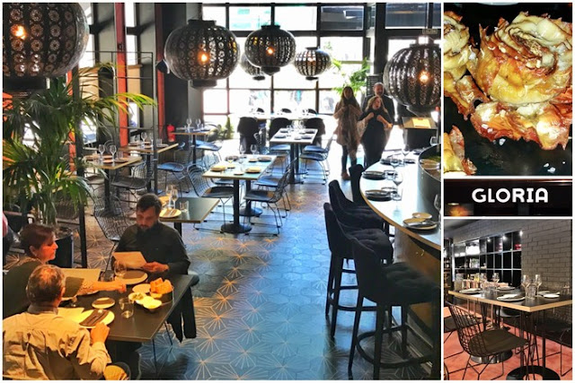Restaurante Gloria de Nacho Manzano en Gijon – Comedor primer piso y barra – Alcachofas fritas – Gloria – Comedor segundo piso