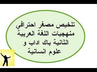 جميع منهجيات اللغة العربية الثانية بكالوريا ملخصة بشكل جيد