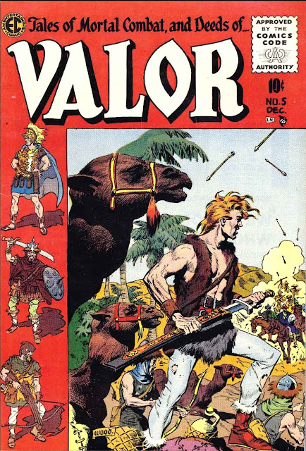 Valor v1 #5 ec comic book cover art by Wally Wood