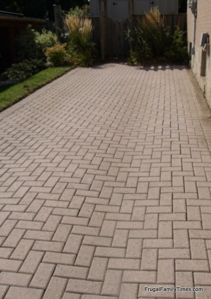 keeping block paving weed free