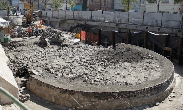 Circular temple to god of wind uncovered in Mexico City