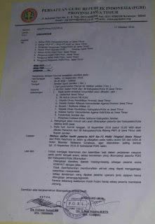 Surat Undangan PGRI 18 November 2016