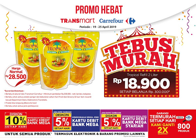#Transmart #Carrefour - #Promo Tebus Murah Tropical 2L (19 - 21 April 2019)