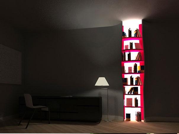 Enhance room design with creative bookshelves designs for Creative room designs
