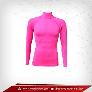 เสื้อรัดรูปแขนยาว สีชมพู