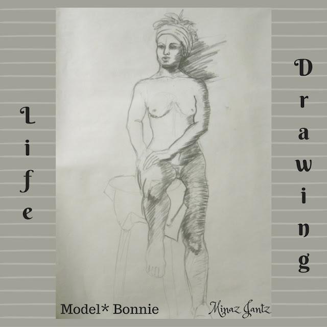 Nude Drawing by Minaz Jantz. Model Bonnie