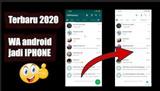 Cara Mengubah Tema Whatsapp Android Menjadi Iphone, Terbaru 2020