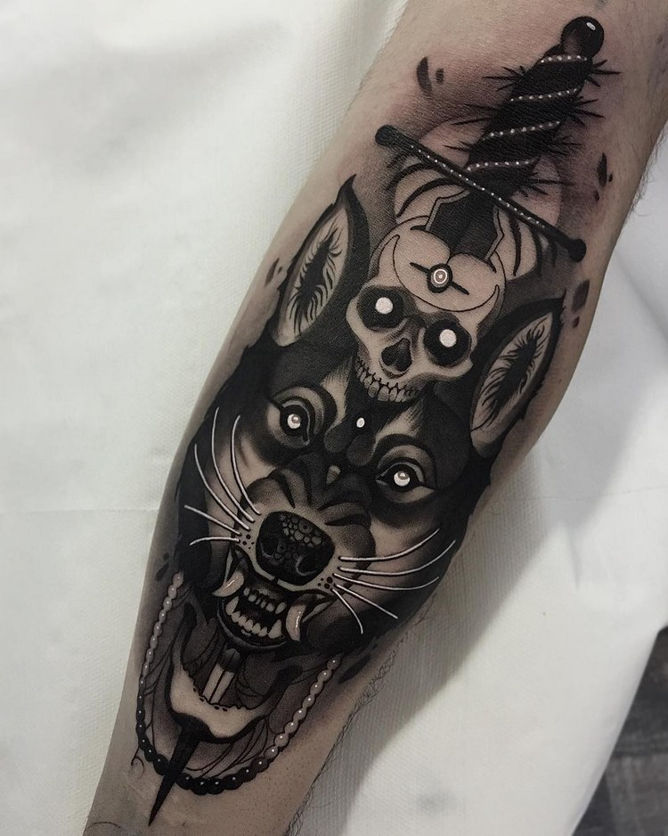 tattoo wolf tattoos and permanent makeup. Black Bedroom Furniture Sets. Home Design Ideas