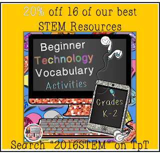 2016 STEM Technology Vocabulary Worksheets
