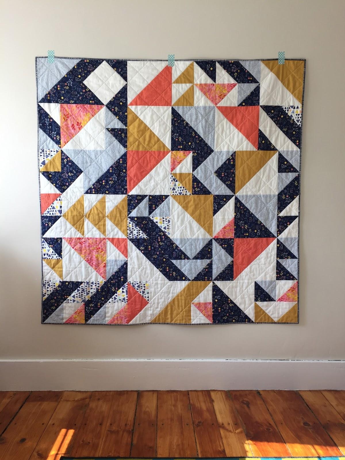 Salty Oat Modern Handmade Quilts A Custom Half Square