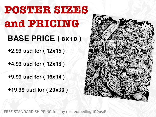 POSTER Sizes and Pricing Photo