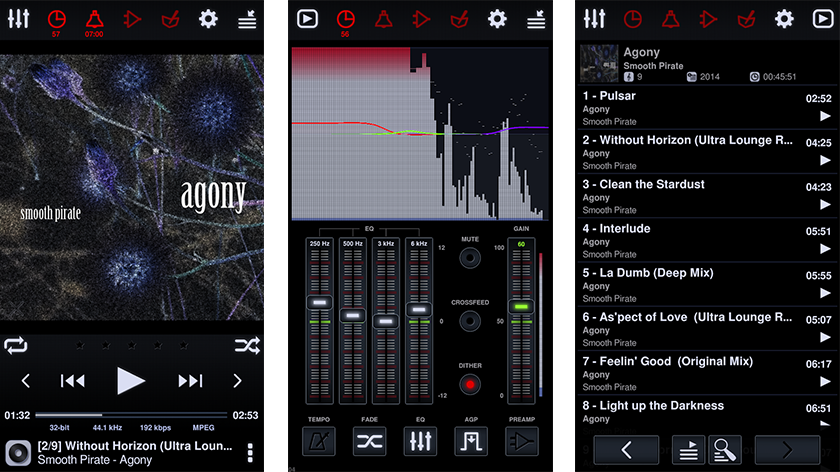 screenshots del reproductor neutron music player
