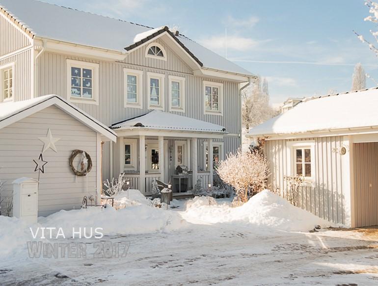Schwedenhaus grau  Schwedenhaus im Schnee - * VitaHus *
