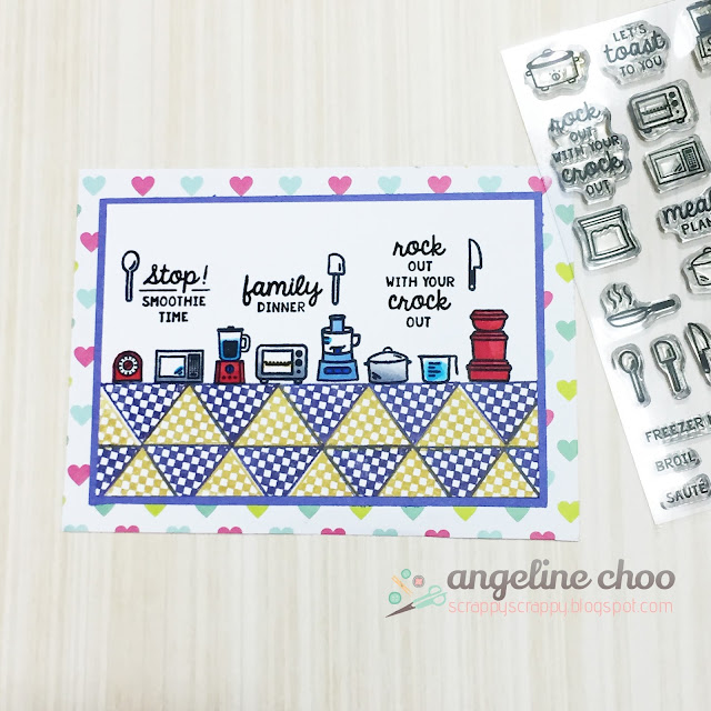 ScrappyScrappy: August NEW Release with Sweet Stamp Shop - Kitchen #scrappyscrappy #sweetstampshop #card #cardmaking #stamp #stamping #coloring #kitchen #copic #cooking #papercraft #planner