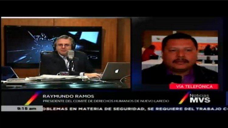 VIDEO:Raymundo Ramos Pte CNDH habla sobre ejecución de militares a Sicarios en Nuevo Laredo