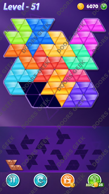 Block! Triangle Puzzle Grandmaster Level 51 Solution, Cheats, Walkthrough for Android, iPhone, iPad and iPod