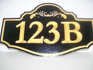 placa número de casas
