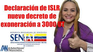EXONERACION DEL ISLR A PERSONAS NATURALES Gaceta oficial Nº 40.864 08 de marzo de 2016