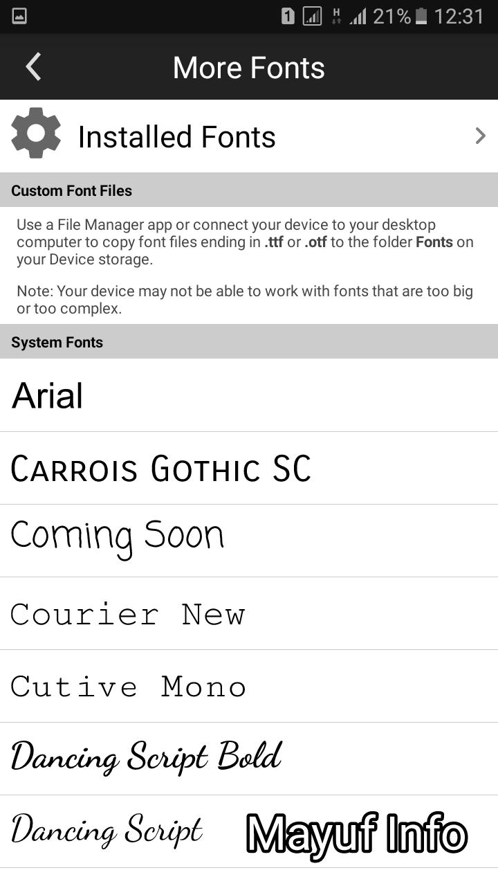 Cara menambahkan font sendiri di picsay pro terbaru