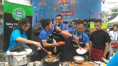 Cooking Demo with Chef Bara di Blibli Histeria Jerat Jerit 11.11 (dok.windhu)