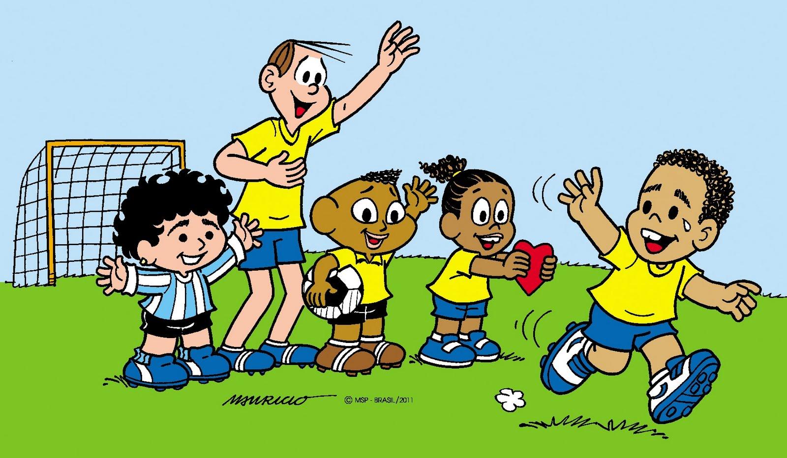 Crianças Que Jogam O Futebol Nos Desenhos Animados Do: Diário Do Grande ABC: Junho 2011