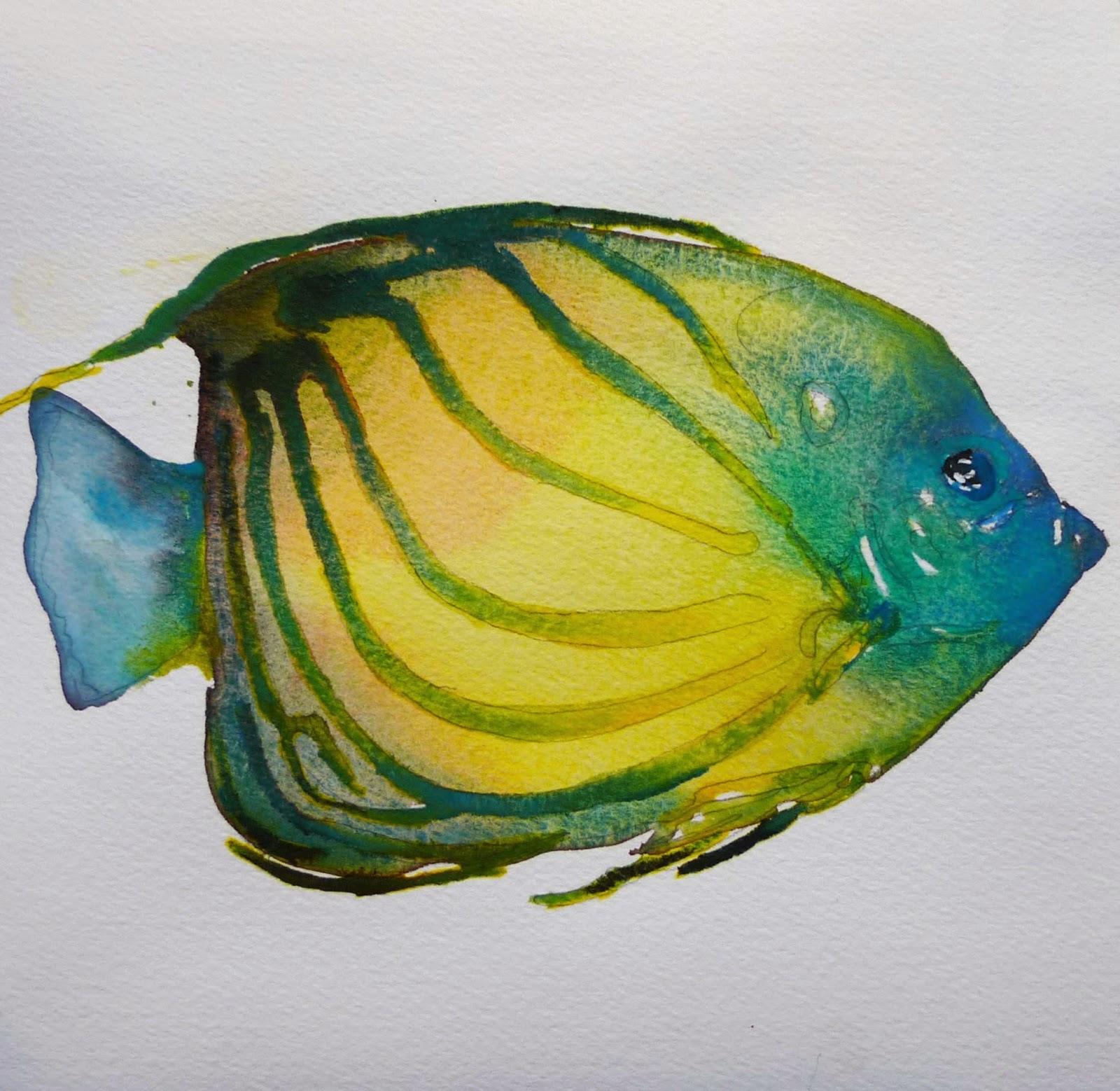 Tropical Fish Watercolor